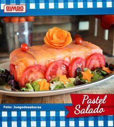 Pastel Salado con Pan Bimbo