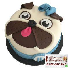 Tort de la Cofetaria Pasticceria Giuseppina ! Comanda direct pe WhatsApp : 0730283947 #torturi #stirbeivoda #cofetaria #salapalatului Baby Cakes, Sweet Cakes, Cute Cakes, Pug Cake, Bulldog Cake, Creative Cake Decorating, Creative Cakes, Fondant Cakes, Cupcake Cakes