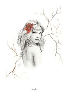 Natalia Vodianova drawing by Kelly Smith