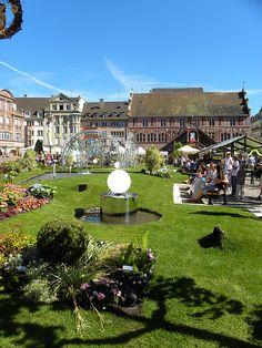 Un jardin au coeur du centre ville à Mulhouse en Alsace.  www.tourisme-mulhouse.com #mulhouse #alsace #jardin