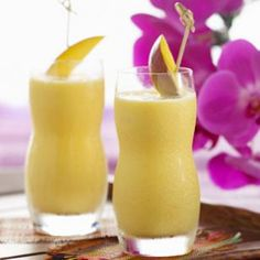 Creamsicle Breakfast Smoothie (1 cup cold pure coconut water, without added sugar or flavor (see Tip)  1 cup nonfat vanilla Greek yogurt  1 cup frozen or fresh mango chunks  3 tablespoons frozen orange juice concentrate  2 cups ice)