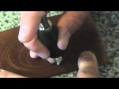 This is my swivel knife. Basic rundown on swivel knives, how they are used, and maintaining them. Leather Carving, Leather Art, Leather Pieces, Leather Design, Leather Tooling, Leather Diy Crafts, Leather Projects, Art Du Cuir, Leather Tutorial