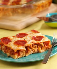 This Polka Dot Pasta 'Pizza' has all the flavors of pepperoni pizza baked into this fun pasta dish everyone can enjoy!