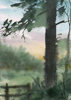 plein air 10 ~ watercolor ~ by sean seal