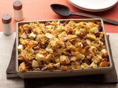 Get Sausage, Apple, and Walnut Stuffing Recipe from Food Network