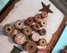 Urban Patina: Rescued Relics + Upcycled Junk: Vintage Wood Spool Tree Art