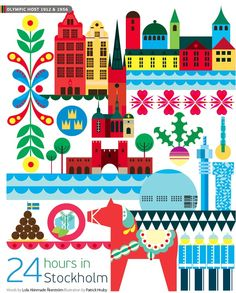 #Stockholm #Sweden http://en.directrooms.com/hotels/subregion/2-7-109/ (World City Illustration by Patrick Hruby)