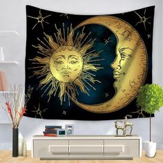 Smart Electronics Smart Home Psychedelic Celestial Indian Sun God Tapestry Mandala Religious Hanging Wall Carpet Square Beach Towel Throw Blanket Home Decor