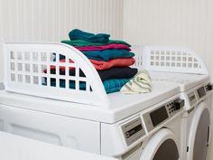 Keep clean clothes from falling into the lint-laden abyss. This magnetic fence installs instantly on any front-loading washer and dryer.
