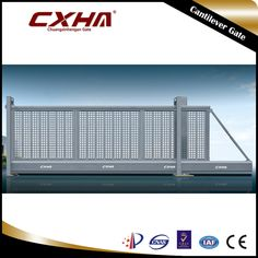 Electric Aluminum Gate   Never Rusty Customized Size, entrance gate