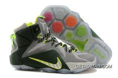 a8fbbfc08bce Lebron 12 Ps Elite Grey Green Shoes TopDeals