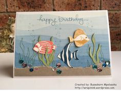 Bussakorn Mpelasoka: Stampin' Up! Demonstrator in Canberra I made this card for a team member who is a fish lover for his birthday. I used Seaside Shore, one of the stamp sets I have been using eve… Nautical Cards, Beach Cards, Birthday Cards For Men, Stamping Up Cards, Fathers Day Cards, Animal Cards, Masculine Cards, Sympathy Cards, Creative Cards