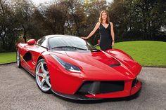 Austrian artist Cornelia Hagmann just received this Ferrari LaFerrari from her husband
