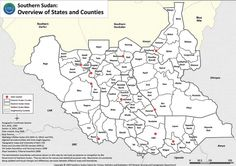 Map of South Sudan, the world's newest nation.