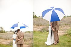 Great way to make a little rain on the wedding look gorgeous!!  by Shillawna Ruffner Photography