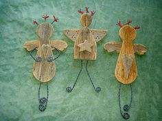 Angels Wooden Angels Christmas Angels Ethnic Angels by CooClaw, $29.00
