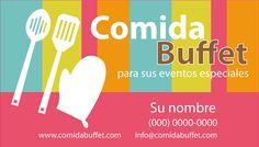 Prediseño de Tarjeta de Presentación para Servicios de Comida Buffet. LGALLP 2013.