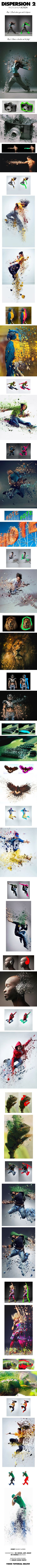 Dispersion 2 Photoshop Action  	3d, 3d dispersion, action, advanced, atn, detailed, digital art, dispersion, dissolve, explode, modern, parts, photo effect, photography, photomanipulation, photoshop, professional, psd, realistic, shatter, vfx
