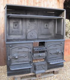 Substantial Reclaimed Original Antique Kitchen Range 4602