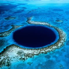 Even if it's a dive site, I'd still go if there wasn't a lot of sealife - Great Blue Hole @ Belize