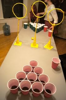 14. Set up a game of Quidditch for a spin on classic beer pong.