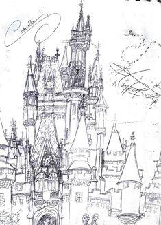 Cinderella's Castle Sketch by Neosun7 Cinderella Coloring Pages, Disney Coloring Pages, Coloring Books, Disney Love, Disney Art, Disney Stuff, Castle Sketch, Deviantart Disney, Castle Illustration