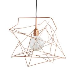 Asymmetric+Lampenschirm,+Kupfer,+House+Doctor
