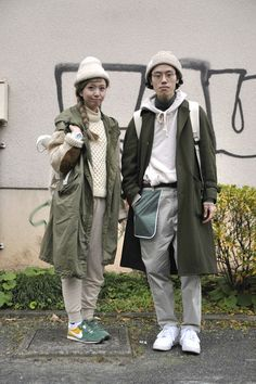 drag to resize or shift+drag to move Couple Style, Best White Sneakers, Tokyo Street Style, Fall Fashion 2016, Summer Outfits For Teens, Stylish Couple, J Crew Men, Fashion Couple, Japanese Street Fashion