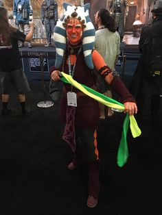 This #crochet Ahsoka Tano costume by Candice Dunlap Miller is EPIC! #starwars #SDCC Photo credit: Matt Martin