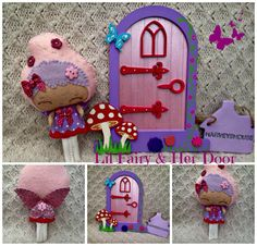 Felt Fairy & Matching Door Set  Made To by HarveyshouseCrafts