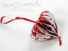 supplies:  love impressions dsp  heart punch  ribbon