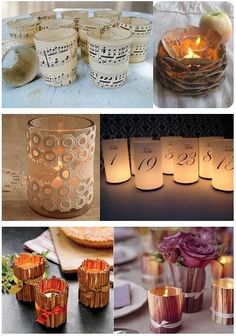 candles with table numbers