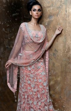 Light Pink Indian #Wedding #Bridal #Lehenga.