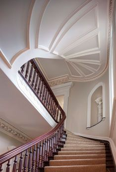 Dramatic stair detail with runner  SLC INTERIORS - Interior Design - Charleston, SC