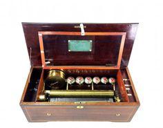 SWISS BREMOND 8 AIR6 BELLS MUSIC BOX, C 1880
