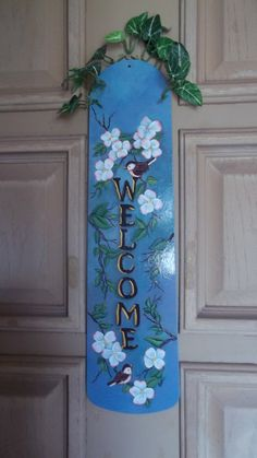 Another Shirley Koenig design but on a fan blade!  I so enjoy painting these!!