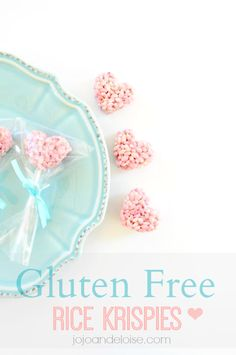 Gluten Free Rice Krispie Treats, Hearts - JoJo and Eloise