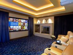 The experts at DIYNetwork.com share inspiring images of family-friendly home theaters.