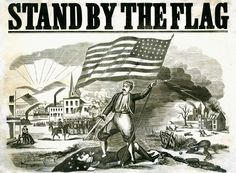 Stand By The Flag Fine Art Print