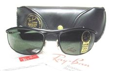 d437008f59 NEW VINTAGE RAY-BAN B L OLYMPIAN I DELUXE W0646 GlossBlk   NOS  SUNGLASSES+Case