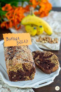 Banana Bread vegan alle noci e cacao Cacao, Banana Bread, Desserts, Food, Tailgate Desserts, Deserts, Essen, Postres, Meals