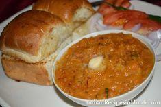 Pav Bhaji Recipe in Hindi - पाव भाजी रेसिपी Snacks Recipes In Hindi, Indian Recipes In Hindi, Indian Food Recipes, Snack Recipes, Ethnic Recipes, Pav Bhaji, Bhaji Recipe, Chana Masala, Cooking