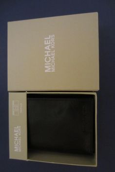 Awesome MICHAEL KORS NEW Men's Genuine Black Leather Wallet.  VERY NICE! Please Repinit ~~ Thanks so Much!