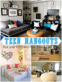 Ten Teen Hangout Areas Your Kids (and their friends) Will Love via Remodelaholic.com #teens #tweens #hangout #teenspace