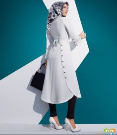 This top/jacket looked really neat Islamic Fashion, Muslim Fashion, Modest Fashion, Fashion Outfits, Womens Fashion, Muslim Dress, Designs For Dresses, Islamic Clothing, Abaya Fashion