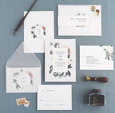 Mae Wedding Invitations by Rachel Marvin Creative