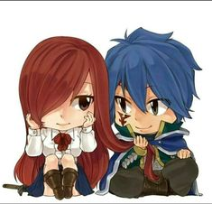 """❤️ Erza et Jellal """"ChiBi """" ~ Fairy Tail<<lol cute. I'd be that mean kid that tugged jut to see what would happen Fairy Tail Ships, Art Fairy Tail, Fairy Tail Amour, Image Fairy Tail, Fairy Tail Photos, Fairy Tail Love, Fairy Tail Guild, Fairy Tail Anime, Fairy Tales"""