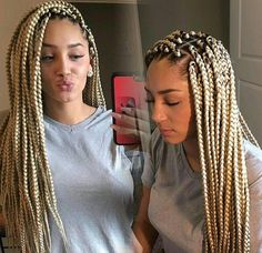 Blonde Braids ‼️ Pinterest ➡️Hair,Nails, And style ‼️‼️ . . . For More Pictures , Follow Us && For My Dolls That's Been Supporting Us & Shouting Us Out Thankyou New Pins && Boards Coming Soon ! so Stay Tune #Welit