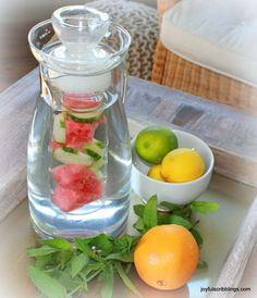 I drink a lot of water year round and sometimes it just gets plain boring.  Last summer I purchased a glass water pitcher that contains a separate cylinder inside for fruit.  When I'm not being lazy, I love to make infused water.  You don't need a special pitcher to make flavored water, but I like …