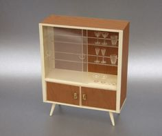 nice companion piece for the mid-century modern credenza - this is a china/display cabinet